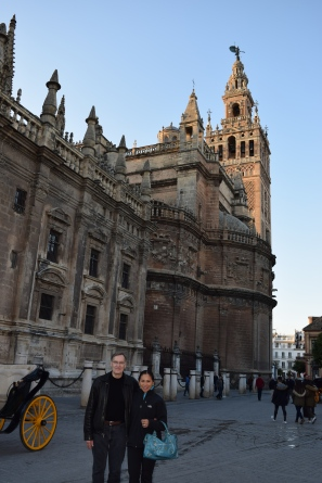 The Giralda Tower of the Sevilla Cathedral in Spain.
