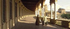 Photo taken from the website: http://www.sevillaonline.es/english/seville/plaza_de_espana.htm