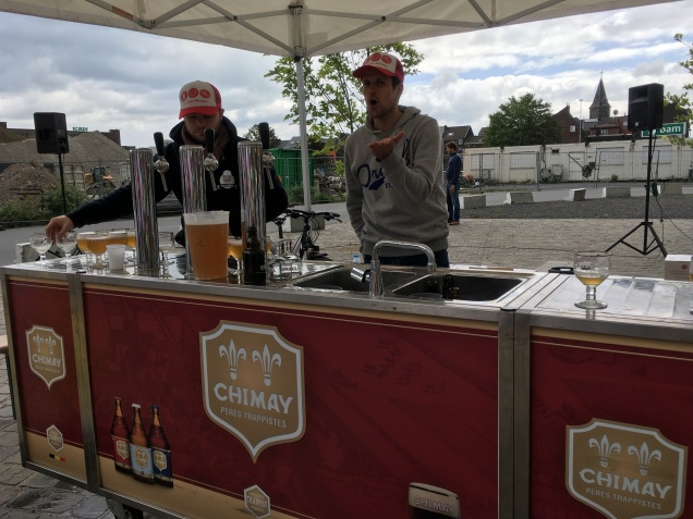 The Chimay beer tasting station at the 38K mark.