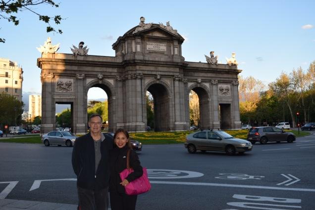 At Puerta de Alcala in Madrid, Spain